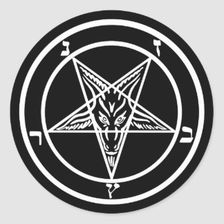 Sticker Rond Satan Baphomet