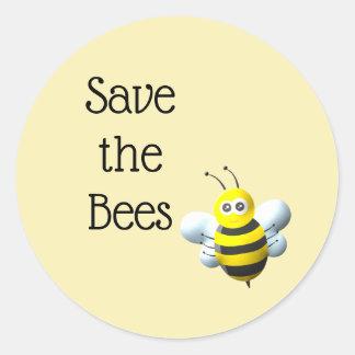Sticker Rond Sauvez les abeilles