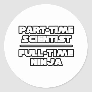 Sticker Rond Scientifique… Ninja