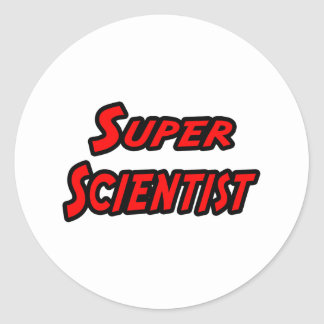 Sticker Rond Scientifique superbe