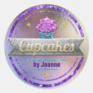 Sticker Rond Scintillement brillant de ventes de petit gâteau