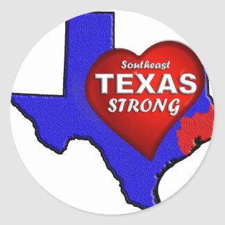STICKER ROND SE LE TEXAS FORT