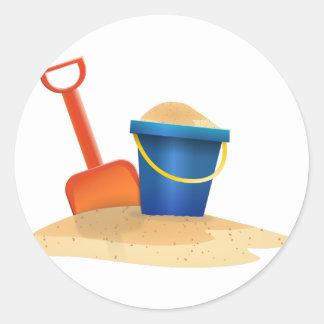 Sticker Rond Seau de sable