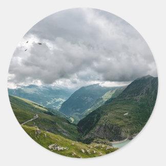 Sticker Rond Sec de vallée de Grossglockner