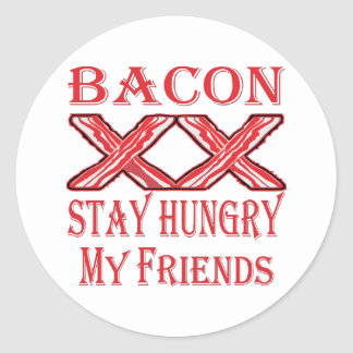 Sticker Rond Séjour de lard affamé mes amis