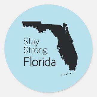 Sticker Rond Séjour la Floride forte