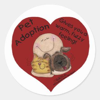 Sticker Rond Sentiment chaud et brouillé ! Coeur