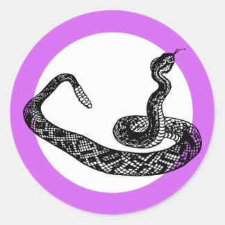 Sticker Rond serpent de hochet