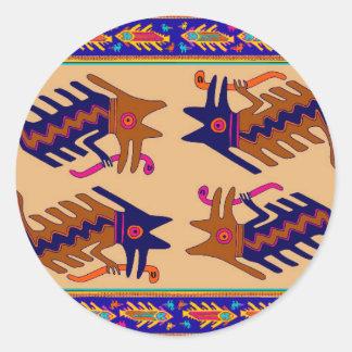 Sticker Rond Serpent de tribal d'Inca