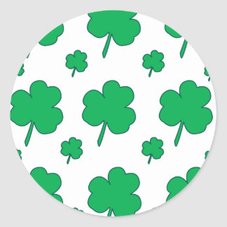 Sticker Rond Shamrock