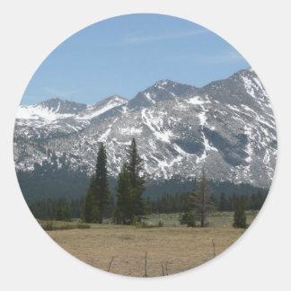 Sticker Rond Sierra montagnes de Nevada I de Yosemite
