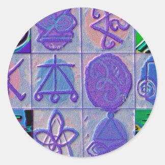 Sticker Rond Signe curatif 12 V24 de Reiki n    Karuna