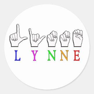 STICKER ROND SIGNE NOMMÉ DE LYNNE FINGERSPELLED ASL SOURD
