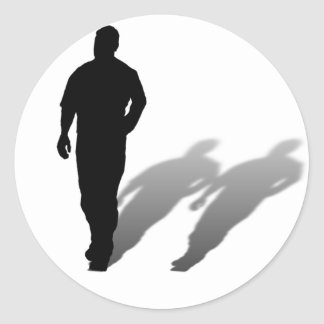 Sticker Rond Silhouette absente d'homme d'homme