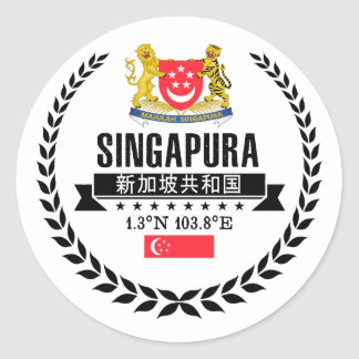 Sticker Rond Singapour