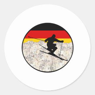 Sticker Rond Ski Allemagne