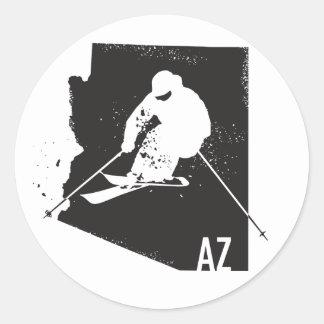 Sticker Rond Ski Arizona