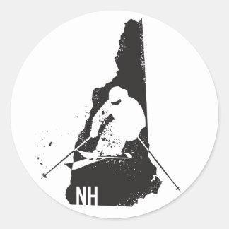 Sticker Rond Ski New Hampshire