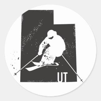 Sticker Rond Ski Utah