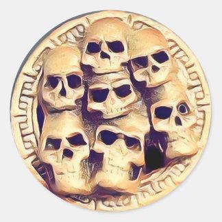 Sticker Rond Skullz