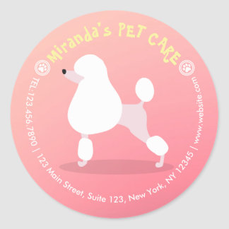 Sticker Rond Soin des animaux familiers adorable d'illustration