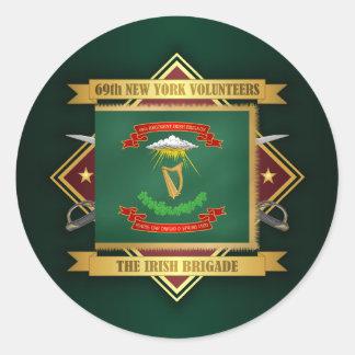 Sticker Rond soixante-neuvième Infanterie volontaire de New