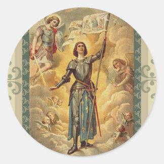 Sticker Rond Soldat d'anges de St Jeanne d'Arc St Michael