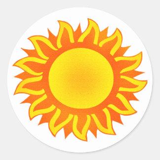 Sticker Rond Soleil