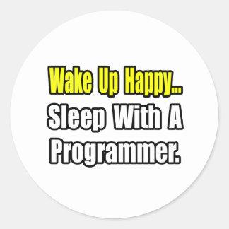 Sticker Rond Sommeil avec un programmeur