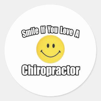 Sticker Rond Sourire si vous aimez un chiroprakteur