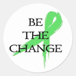 Sticker Rond Soyez le changement - mois de conscience de santé