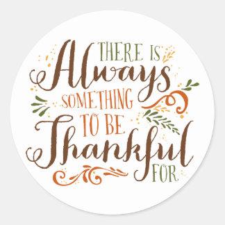 Sticker Rond Soyez thanksgiving lunatique reconnaissant du