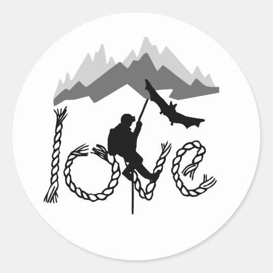 Sticker Rond speleo montagne