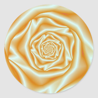 Sticker Rond Spirale rose d'orange
