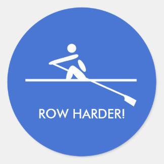 Sticker Rond Sports bleus de aviron d'amusement plus dur de