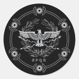Sticker Rond SPQR l'autocollant d'emblème d'empire romain