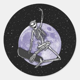 Sticker Rond Squelette de conseil
