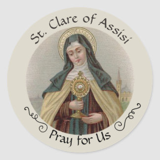 Sticker Rond St Clare d'Assisi