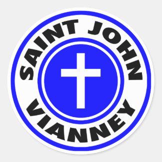 Sticker Rond St John Vianney