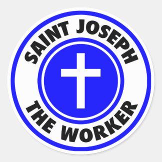 Sticker Rond St Joseph le travailleur