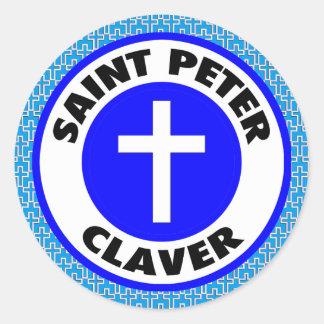 Sticker Rond St Peter Claver