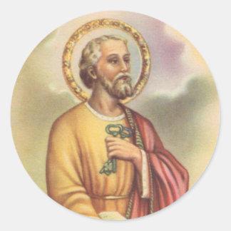 Sticker Rond St Peter le premier pape d'apôtre