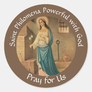 Sticker Rond St Philomena paume lis FESTIN 10 août