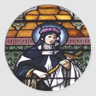 Sticker Rond St Rose de Lima - priez pour le vitrail