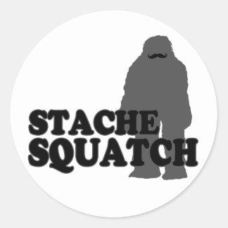 Sticker Rond Stache Squatch