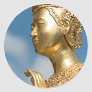 Sticker Rond Statue de Kinnorn, Bangkok