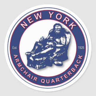 Sticker Rond Stratège de fauteuil - le football de New York