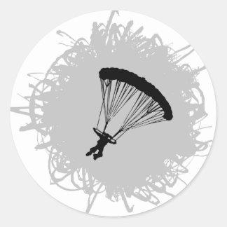 Sticker Rond Style de parachutage de griffonnage
