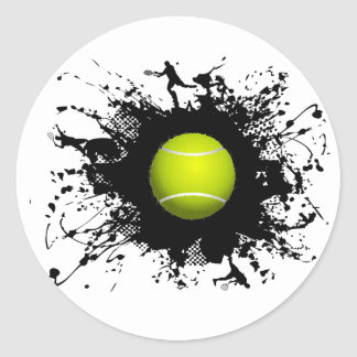 Sticker Rond Style urbain de tennis