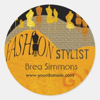 Sticker Rond Styliste de mode de consultant en matière d'image